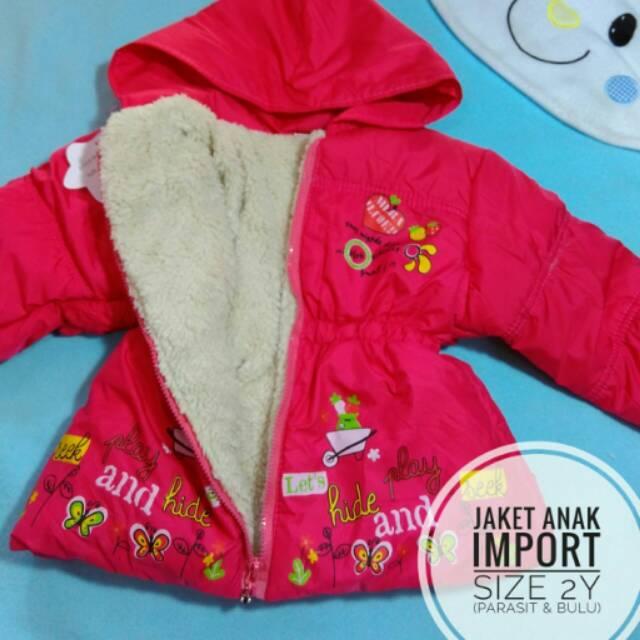 Jaket Anak Import Perempuan Cewek Parasit Bulu Pot  55ce01c3ce