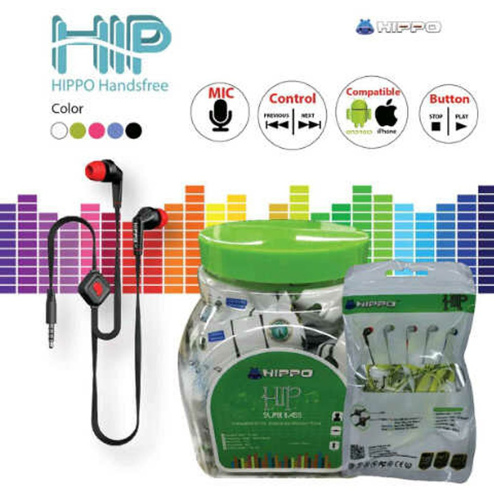 Hippo Handsfree HIP (1Toples isi 25pc) - Original Hippo | Shopee Indonesia