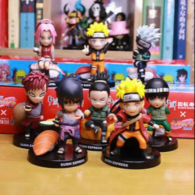 Naruto Shippuden Set 8 Sasuke Sakura Kakashi Hinata Gaara Itachi Minato Toy