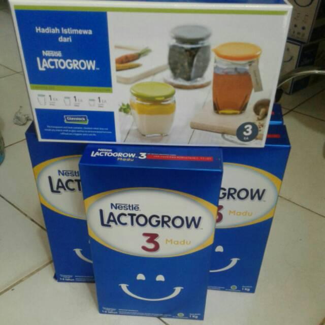 Lactogrow 3 Madu 1kg Beli 5pcs Dapat Toples Cantik Shopee Indonesia