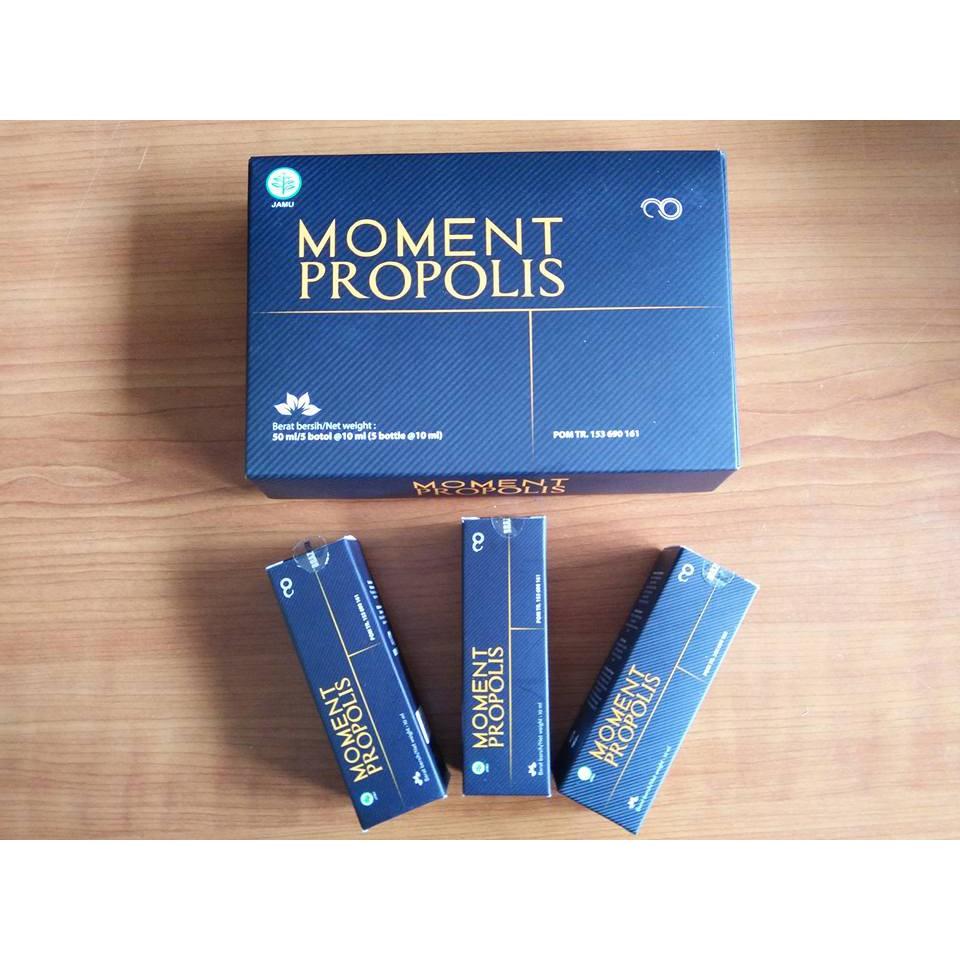 Propolis Moment Isi 5 Botol 100 Asli Shopee Indonesia Original Kemasan  1 Box