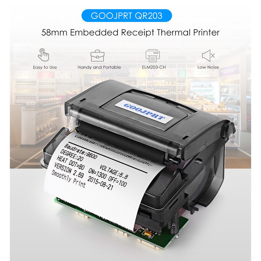 3c Cr 204 58mm Printer Thermal Super Mini Shopee Indonesia Portable Bluetooth Receipt Zjiang 5807