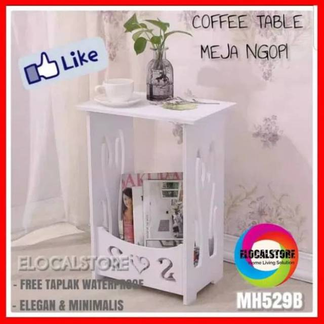 Small Round Coffe Table MH515 Meja kopi bulat samping sisi Meja vintage shabby chic | Shopee Indonesia