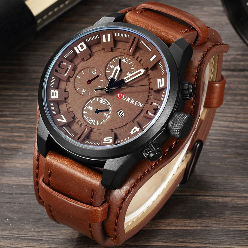 I613 Mens Quartz Watch Chronograph Stainless Steel Waterproof Date Analog Quartz Fashion Business Wrist Watches