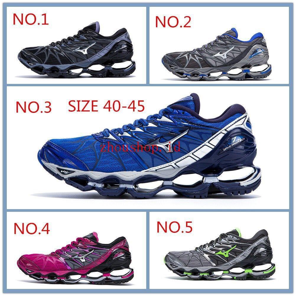 Original Sepatu Mizuno WAVE PROPHECY 7 Pria wanita Sepatu jogging olahraga  sepatu Running  933695e858