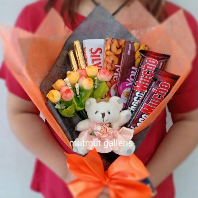 Buket Bunga Coklat Boneka Teddy Bear Kode 132 Kado Ultah Wisuda Kelulusan Valentine Shopee Indonesia