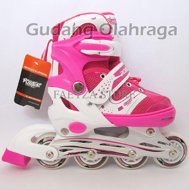 Sepatu Roda + Helm + Deker satu set   Inline Skate Anak dan Dewasa ... 98617f03cc