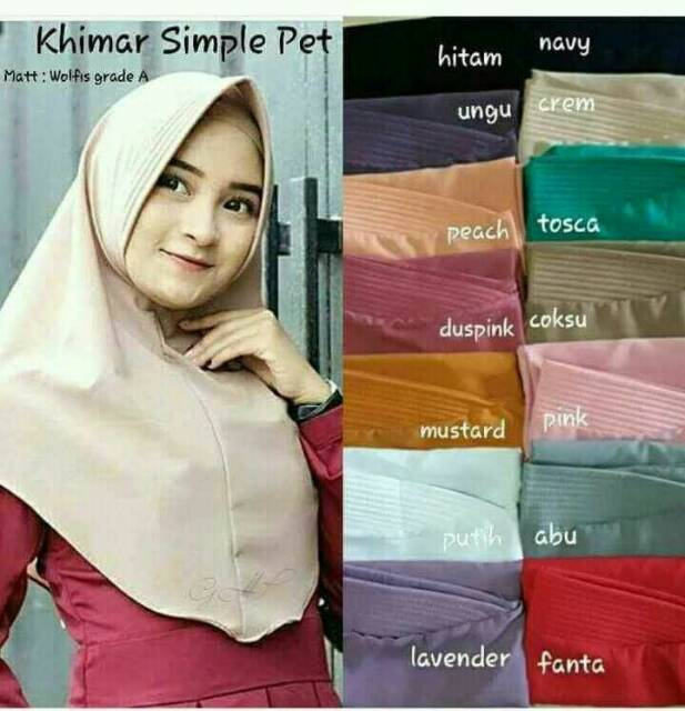 Termurah Khimar Pet Antem Jilbab Simple Kerudung Pet Hijab Instant Instan Wolfis Wollpeace By Izza Shopee Indonesia