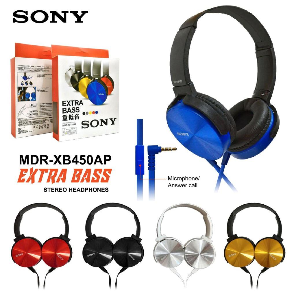 Headphone Sony Extra Bass Mdr Xb450ap Mic Headset Handsfree Shopee Indonesia