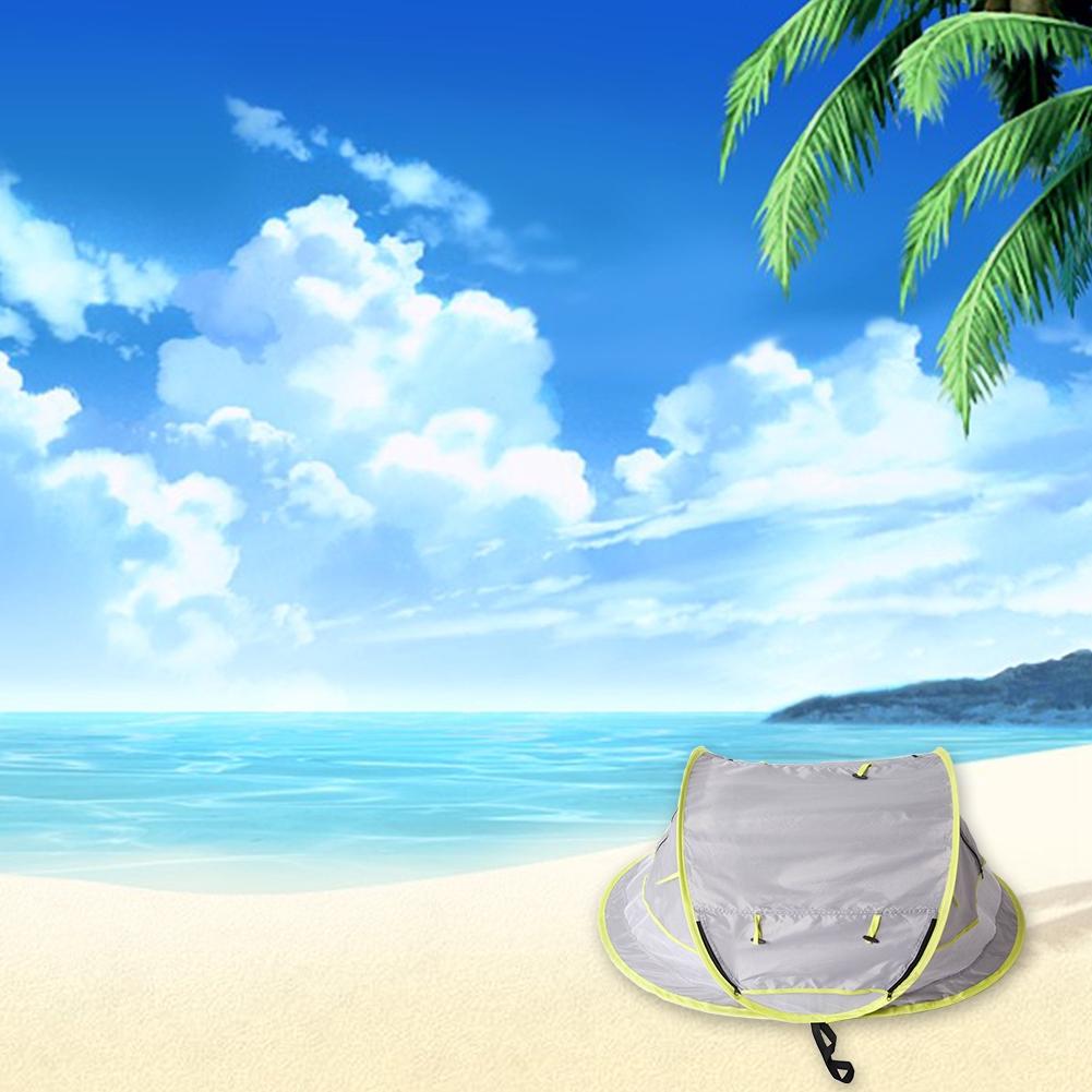 Tenda Lipat Portable Pelindung Sinar Matahari untuk Outdoor / Pantai