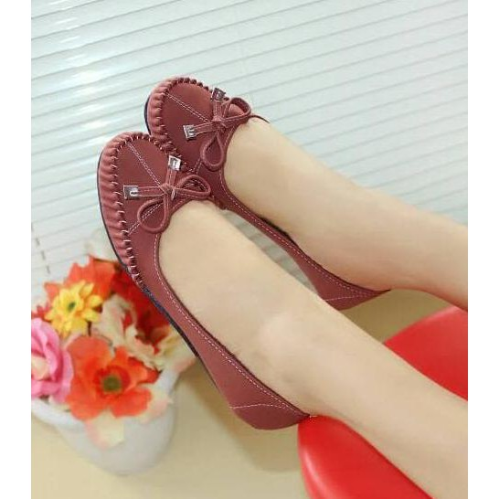 Sepatu Wanita Flatshoes Flat Shoes Glossy Mocca Nfz 07 - Daftar ... - NAFIZA