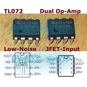 20PCS TL072 TL072CP DIP-8 LOW NOISE J-FET DUAL OP-AMP IC NEWC
