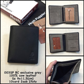dompet hushpuppies 003SP BC exclusive gray replica dompet kulit dompet pria  dompet cowok murah 171da7e1a6