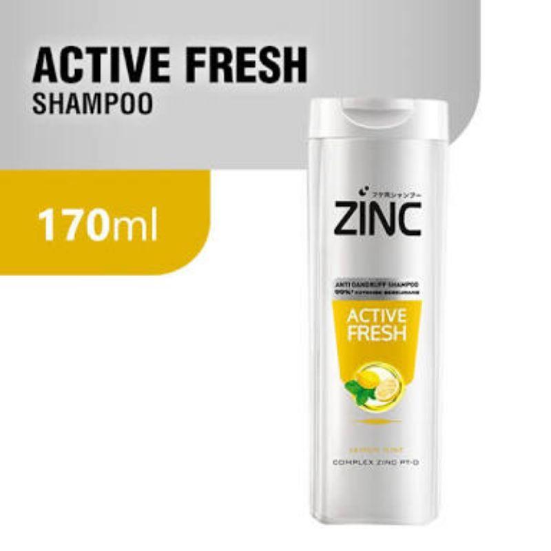 ZINC SHAMPOO  THEATMENT 170 ML KEMASAN BOTOL SEDANG ZINC 170ML 170ML-ZINC ACTIVE FRSH KNG