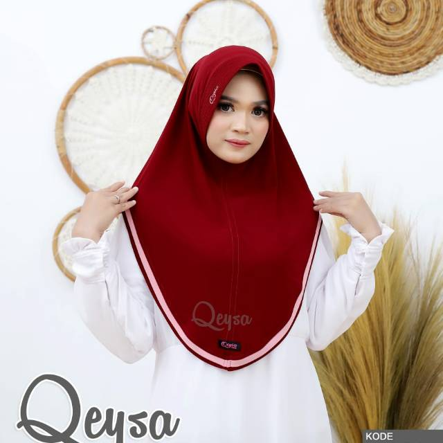 Qeysa Hijab Original /Qeysa Hijab kode 107 / Qeysa List hijab Original / Jilbab Qeysa