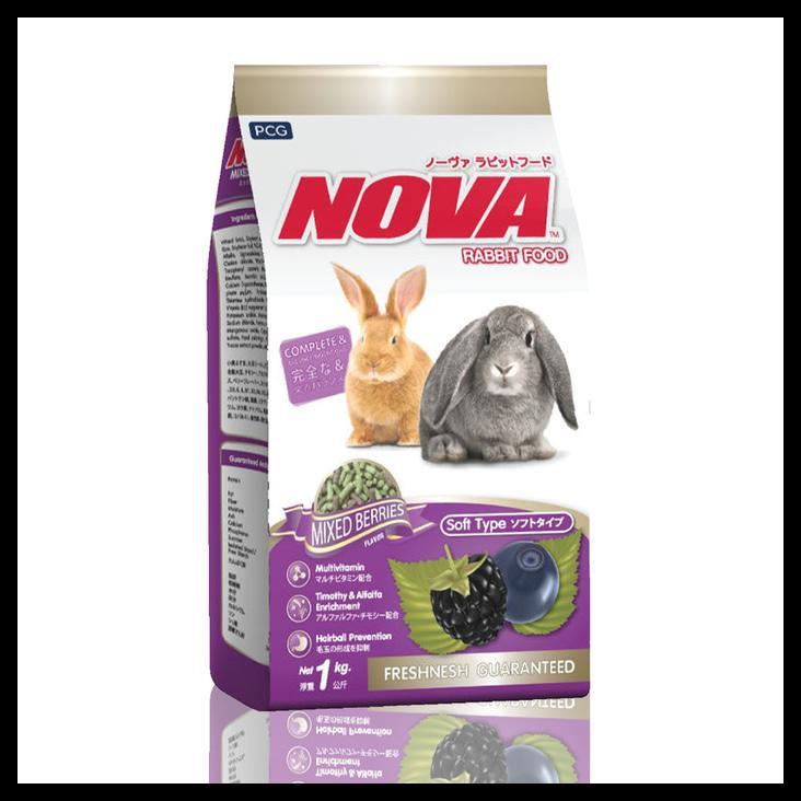 Nova Mixed Berries Rabbit Food 1kg Makanan Kelinci Marmut Guinea Pig | Shopee Indonesia