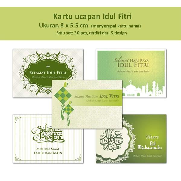30+ Ide Contoh Kartu Ucapan Selamat Hari Raya Idul Fitri ...