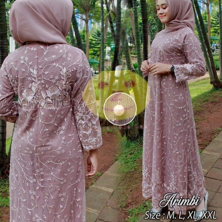 Harga Model Baju Gamis Brokat Terbaik Dress Muslim Fashion Muslim Maret 2021 Shopee Indonesia