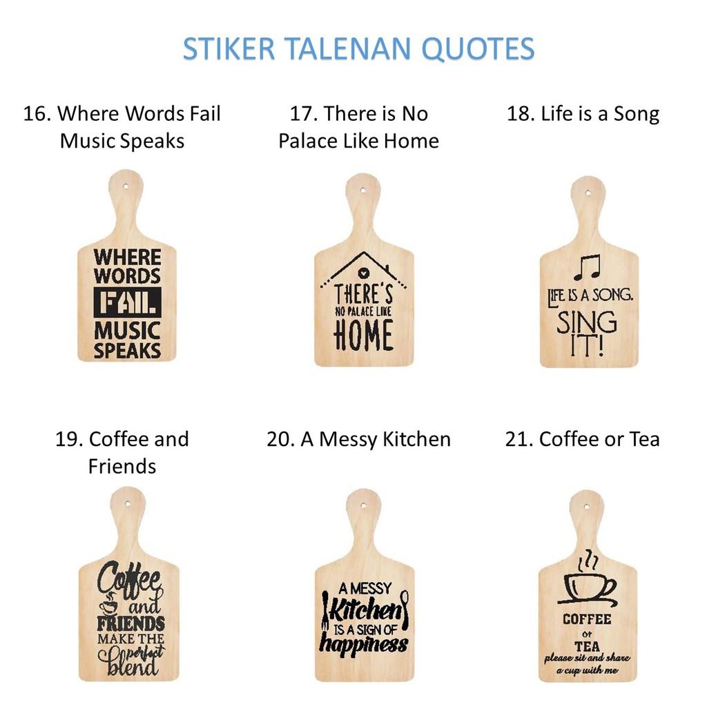 Stiker Talenan Where Words Home Life is A Song Coffee Tea Kitchen Hiasan  Dekorasi Rumah Dapur Music  d53aa7e62a