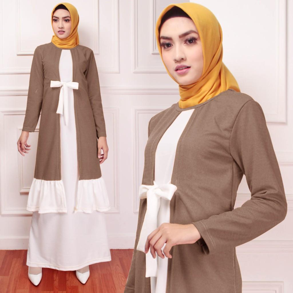 DIONISIA Hilda Baju Gamis Wanita Muslimah Modern Model Terbaru Tren 10