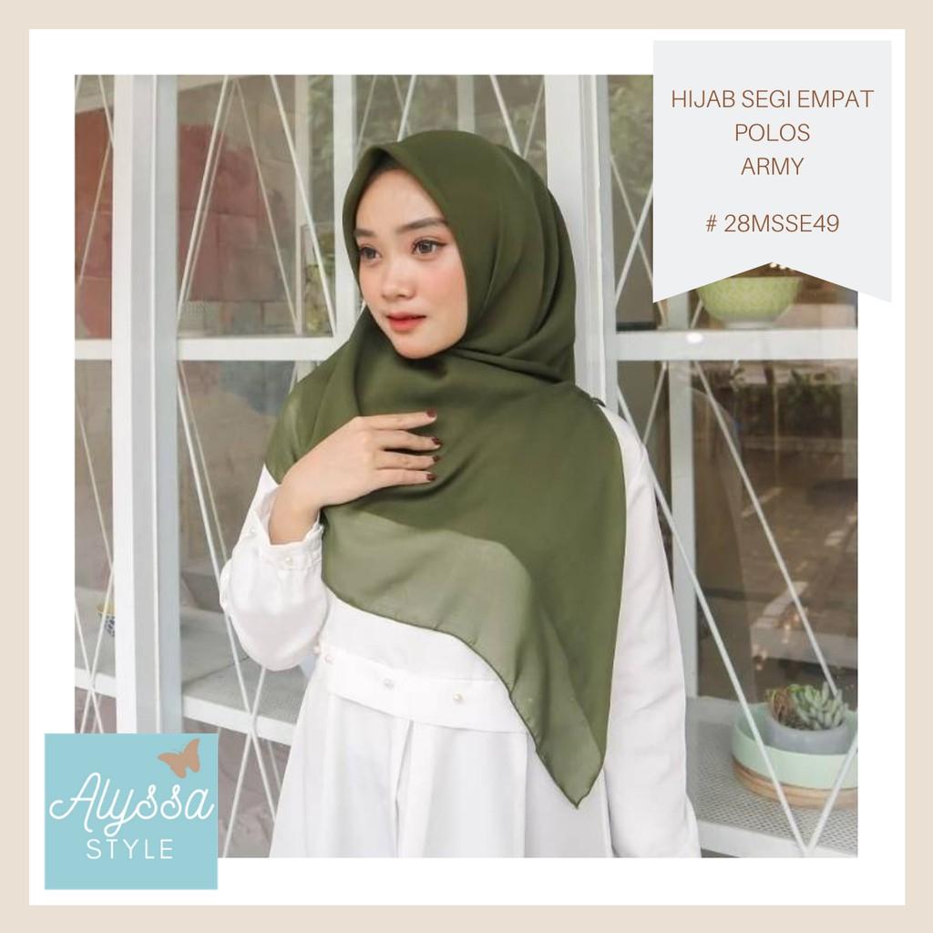 Hijab Segi Empat Polos Wardana 28msse49 Army Green Grosir Banyak Varian Warna Shopee Indonesia