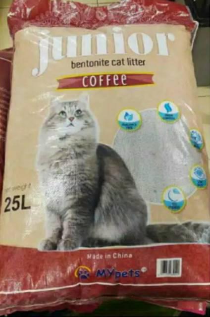 Pasir Kucing Wangi Gumpal Merk Junior Kemasan 25 Liter Shopee Indonesia
