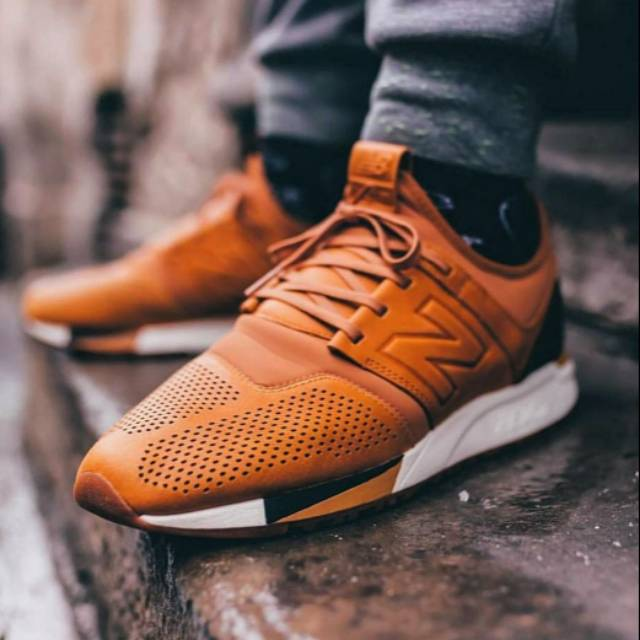 New Balance MRL247 Luxe Pack Leather Brown White