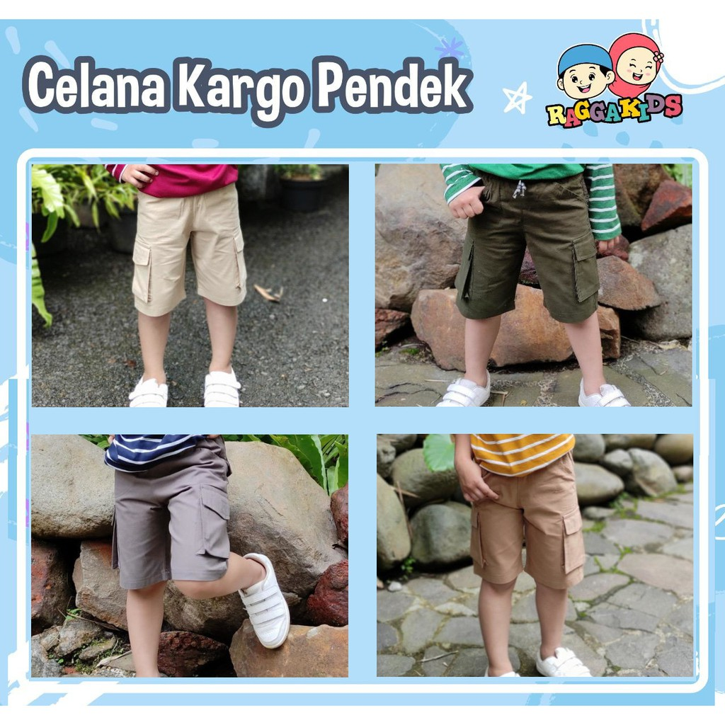 Celana Anak Cargo Pendek by Raggakids