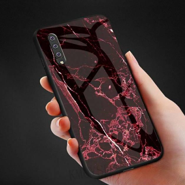 Marble Glass Case Samsung Galaxy A50 A30S A50S SamsungA50 SamsungA30S SamsungA50S Back Cover Casing