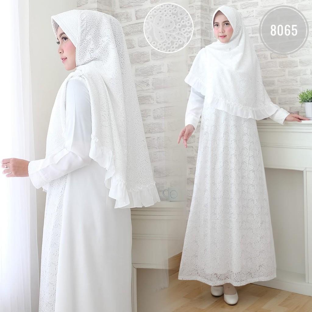Baju Gamis Putih / Busana Muslim / Baju Muslim Wanita #8