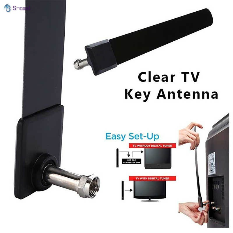 Clear TV HD Digital Antenna As Seen on TV No More Cable Bills New Black ED