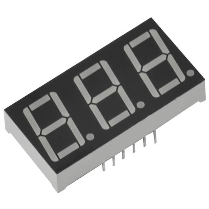 "5pcs 3 Bit 0.56/"" Digital Tube LED Display Common Cathode Red"