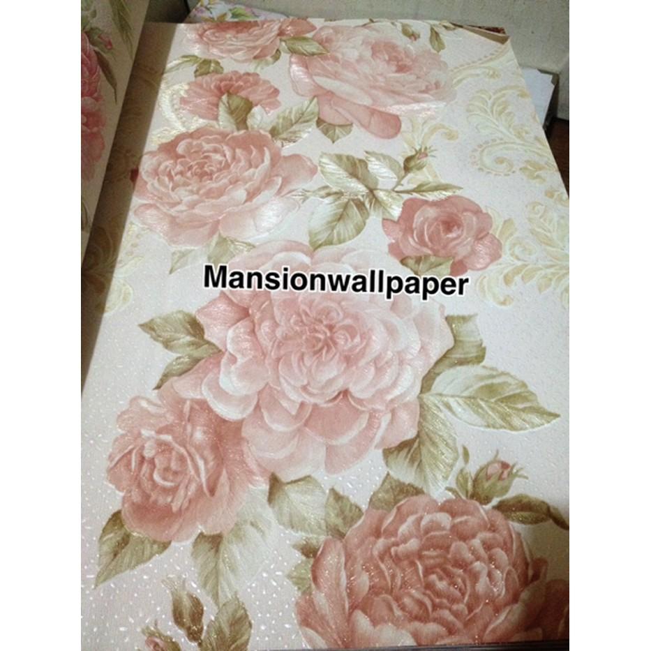 Wallpaper Dinding Bunga Mawar Besar Eksklusif Parts Shopee Indonesia