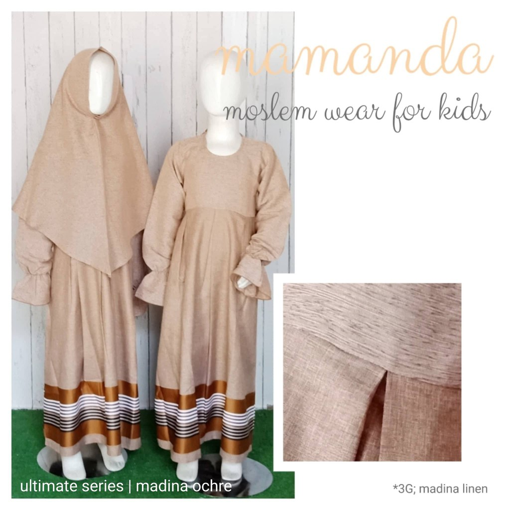 Gamis Anak Madina Ochre Ultimate Series by Mamanda
