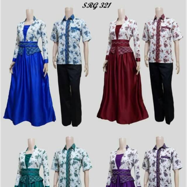 Sarimbit Batik Couple Gamis Murah SRG 454  8073ad8847