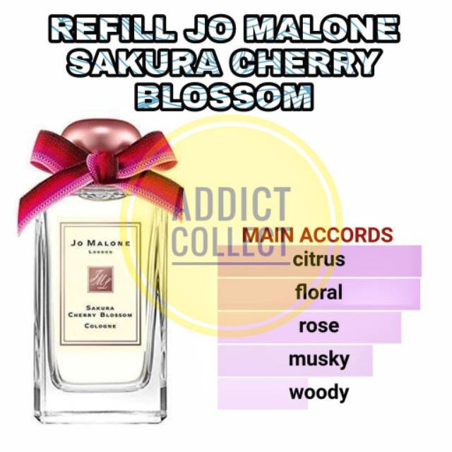 Parfum Refill Jo Malone Sakura Cherry Blossom Aroma Baru Best Quality Shopee Indonesia