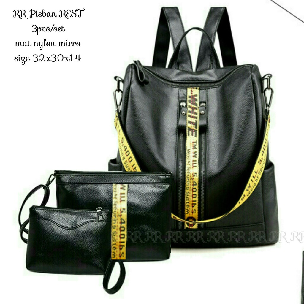 Tas Ransel Backpack Micro 3in1 Pisban Dj3 Shopee Indonesia Kait Nylon Set