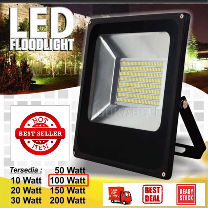 Lampu Tembak 100w Lampu Sorot 100 W Flood Light 100w Lampu Taman 100w Ip65 Waterproof Shopee Indonesia