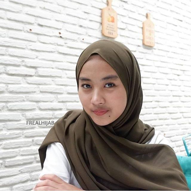 Pasmina Ceruti Baby Doll Hijau Army Shopee Indonesia