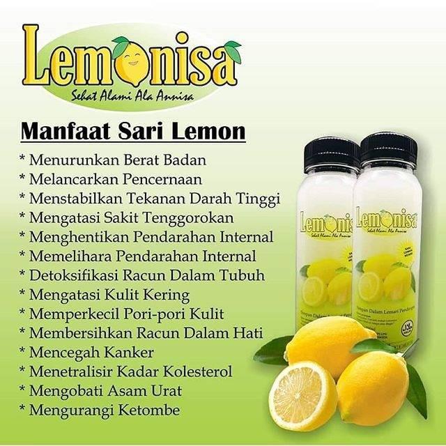 Lemonisa Sari Lemon Air Lemon Minuman Diet Lemonnisa Shopee Indonesia