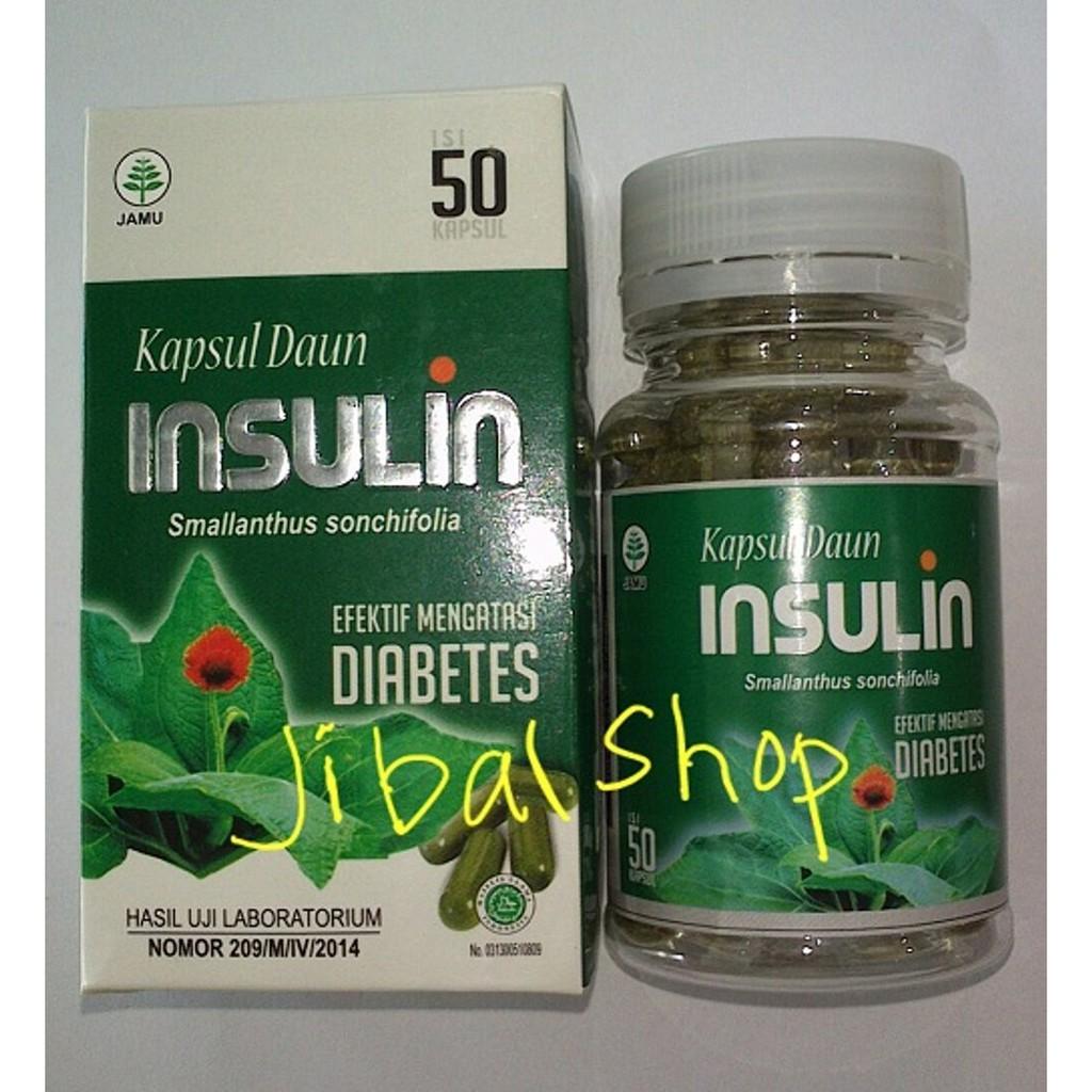 Ekstrak Murni Daun Insulin Insulfit Efektif Mengatasi Diabetes Kencing Manis Isi 40 Kapsul | Shopee Indonesia