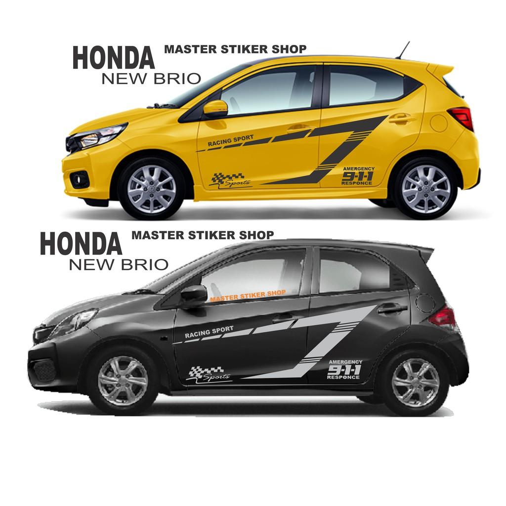 Bt Stiker Mobil Honda All New Brio Stiker Mobil Keren Agra Sigra Mobilio Ayla Calya Agya Dll Shopee Indonesia