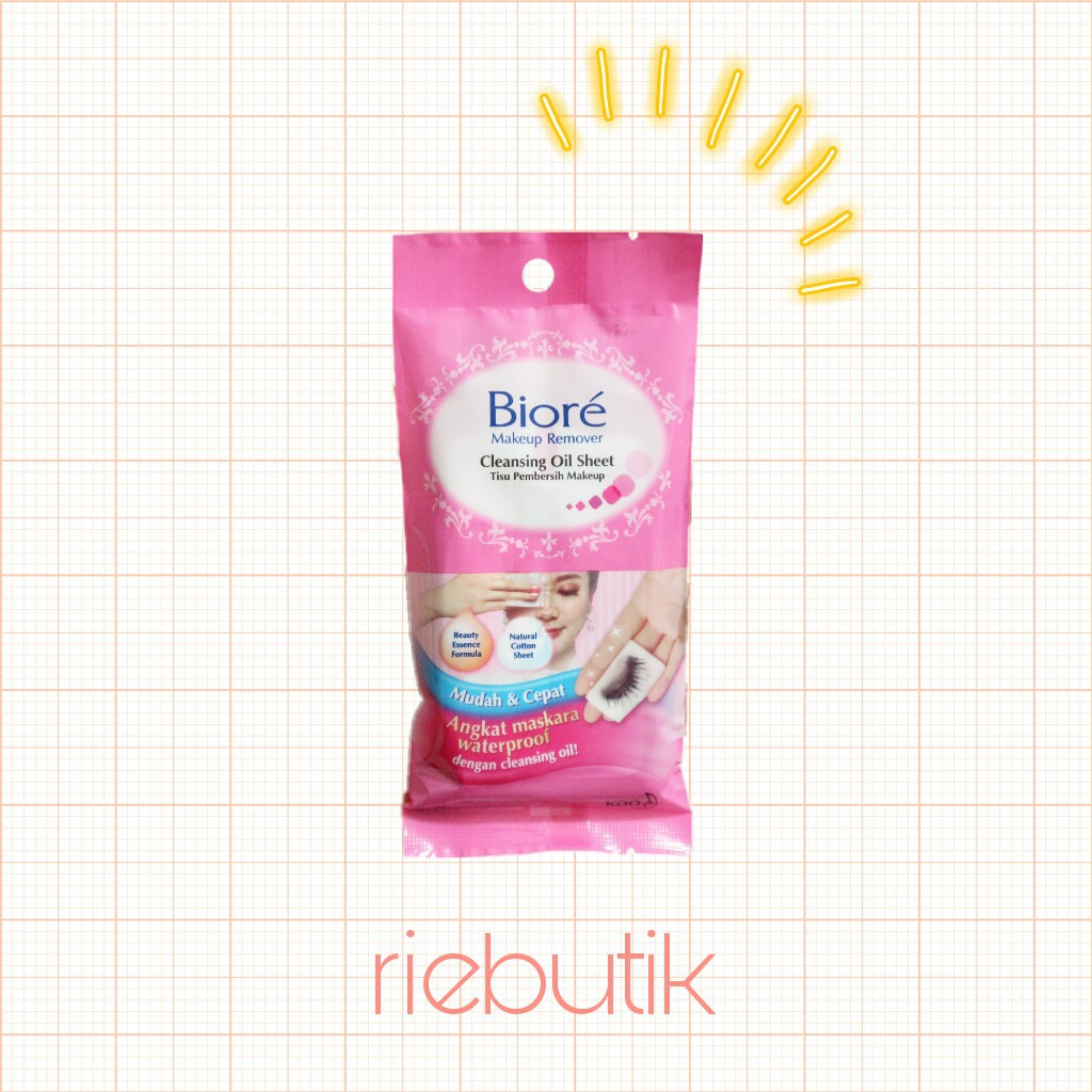 Biore Make Up Remover Cleansing Oil In Cotton Wipes 10s Shopee 150ml Indonesia
