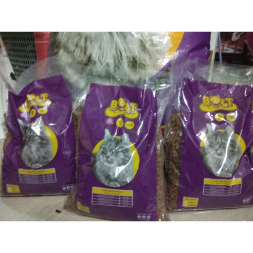 Best Seller Makanan Kucing Bolt Tuna Kemasan 1kg Repackage