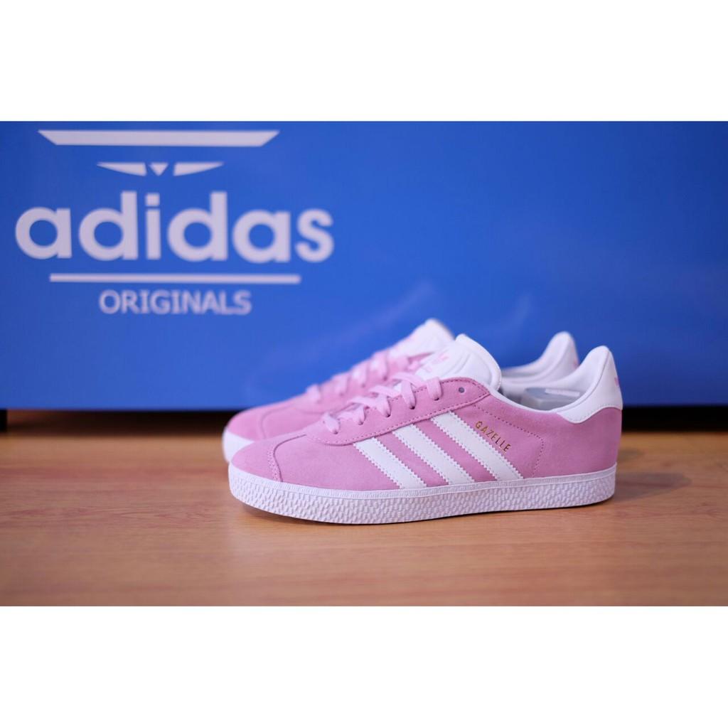 Sepatu Adidas ORIGINAL Gazelle Suede Soft Pink  5ae740819e
