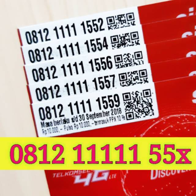 Nomor Cantik SIMPATI 4G LTE Telkomsel Mewah LIMITED EDITION Nocan Kartu Perdana Nomer PANCA satu |