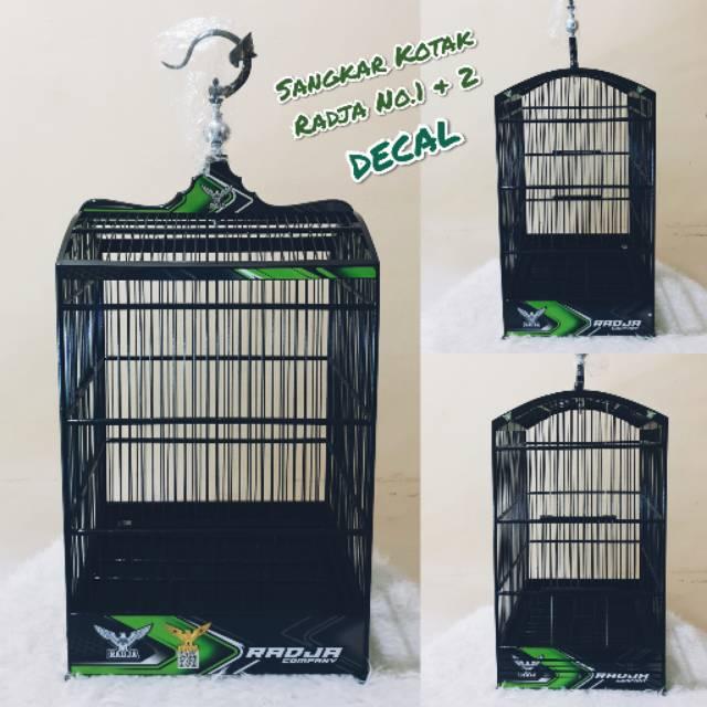 Sangkar Kotak Burung Decal Radja Shopee Indonesia