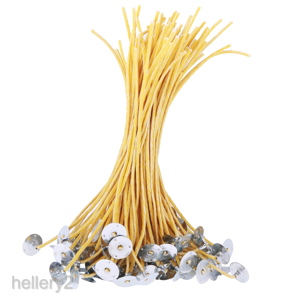 28cm//13 inch High Quality Pre Waxed Wicks With Sustainers For Candle Making
