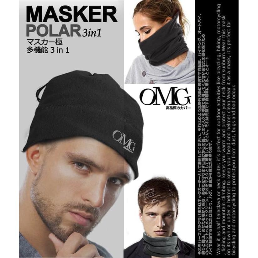 Masker Polar 3in1 OMG Topi Kupluk Mask Balaclava Bandana Slayer Baff | Shopee Indonesia