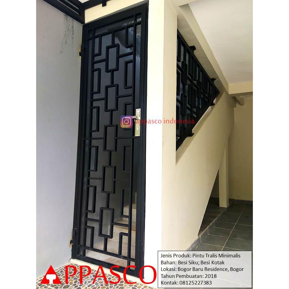 Pintu Besi Teralis Minimalis Di Bogor Baru Residence Shopee Indonesia